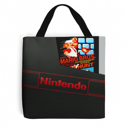 NES Cartridge Dust Sleeve Cover Retro Gaming Design To Tote Shopping Bag